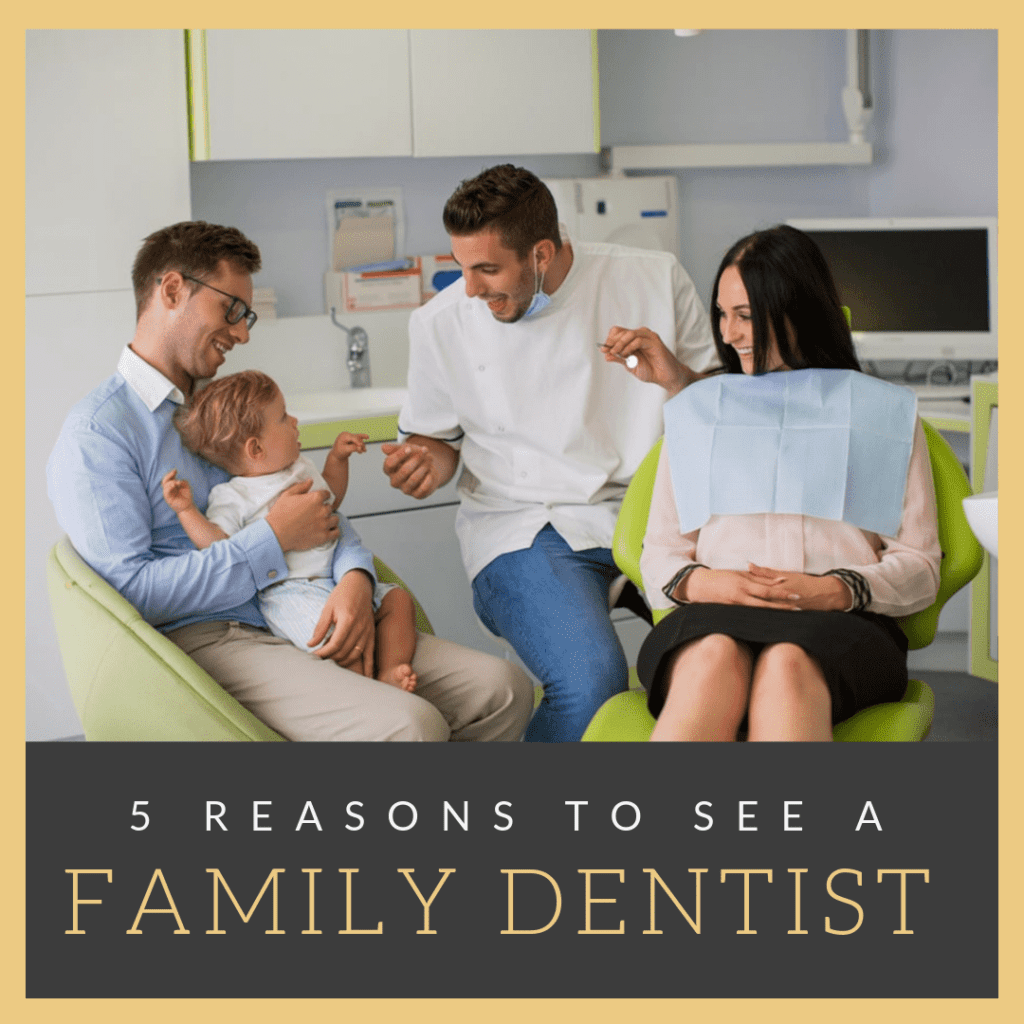 """Title banner for """"5 reasons to see a family dentist"""""""
